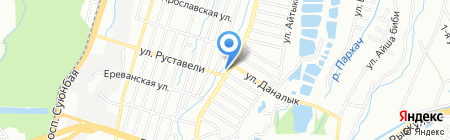 Достык 3 на карте Алматы