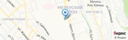 Алма-Ата продовольственный магазин на карте Алматы