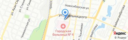 Кадам на карте Алматы