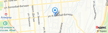 Контрактная Корпорация Азимут ТОО на карте Алматы