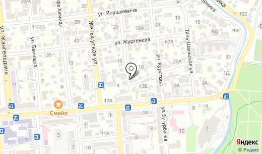 Даниал. Схема проезда в Алматы