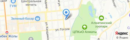 Чингис-Хан на карте Алматы
