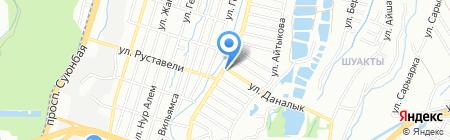 Валедин на карте Алматы