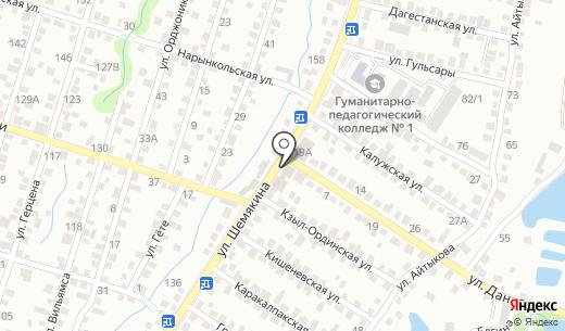 Валедин. Схема проезда в Алматы