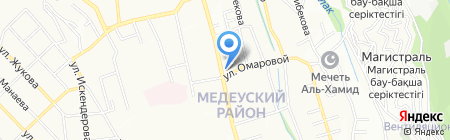 Телли на карте Алматы
