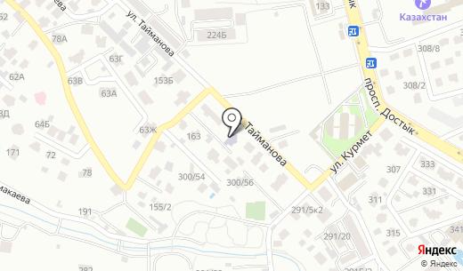 Познай-ка. Схема проезда в Алматы