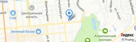 Генеральное консульство Украины в г. Алматы на карте Алматы