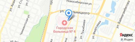 Городская клиническая больница №4 на карте Алматы