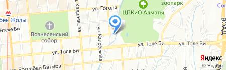 Акватория на Советской на карте Алматы