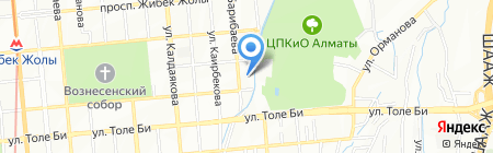 Ясли-сад №106 на карте Алматы