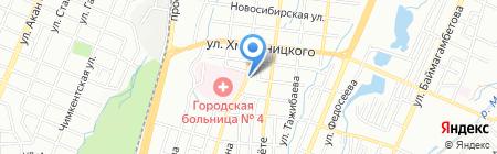 ELF на карте Алматы