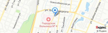 Кымызхана на карте Алматы