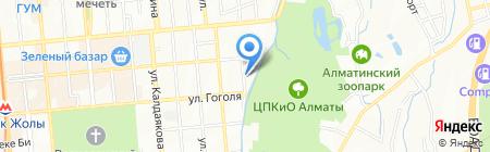 Шашлычная на Гоголя на карте Алматы