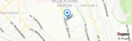 Коктем на карте Алматы