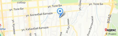 МПС на карте Алматы