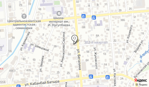 Ландшафтная компания. Схема проезда в Алматы