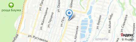 Шиномонтажная мастерская на ул. Шемякина на карте Алматы