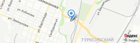 Магнетик на карте Алматы