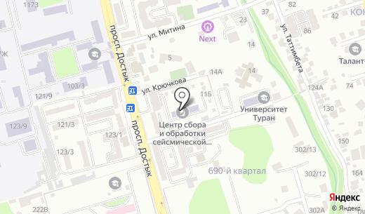 КАТЭП-АЭ. Схема проезда в Алматы