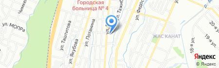 Общеобразовательная школа №17 на карте Алматы