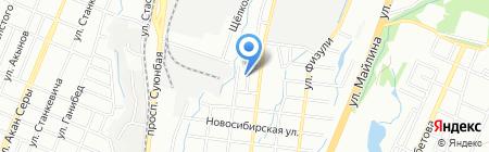 Алтыным на карте Алматы