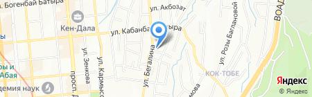 Жануя на карте Алматы