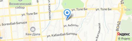 Исполнительная дирекция совета Национальной лотереи Республики Казахстан на карте Алматы