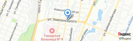 Маннам на карте Алматы