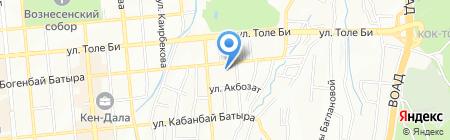Общеобразовательная школа №29 на карте Алматы