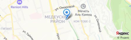 Республиканская средняя школа-интернат для одаренных детей им. Абая на карте Алматы