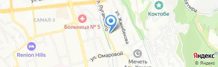 На Луганского на карте Алматы