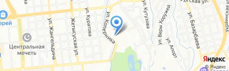 Терис на карте Алматы