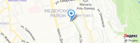 КНИК на карте Алматы