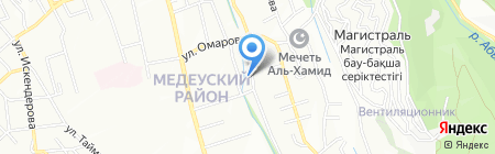 Крон на карте Алматы