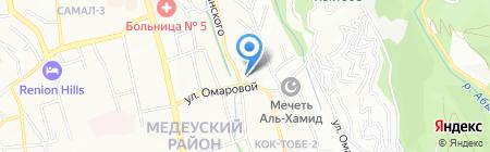 Рельеф на карте Алматы