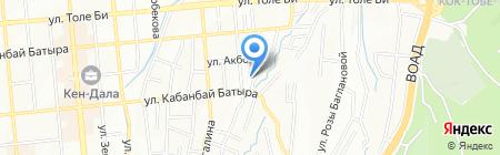 Солнечный лучик на карте Алматы