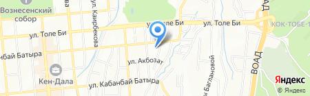 Маныз на карте Алматы