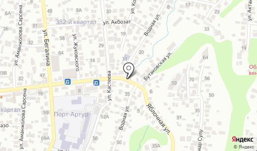 МегаПринт. Схема проезда в Алматы