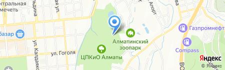 Кок-тобе на карте Алматы