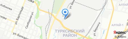 MS на карте Алматы