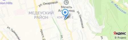 Саялы на карте Алматы
