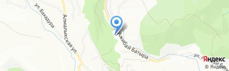 Ак-Каин на карте Алматы