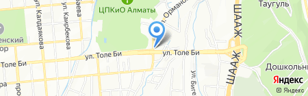 Серебряный пилигрим на карте Алматы