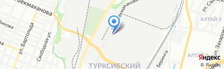 АЗМК на карте Алматы