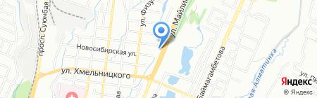 Кредос на карте Алматы