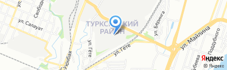Рыбзавод на карте Алматы