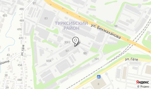 Океан-Мухит. Схема проезда в Алматы