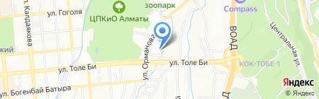 Чимбулак на карте Алматы