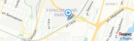 Азия Кыраны на карте Алматы