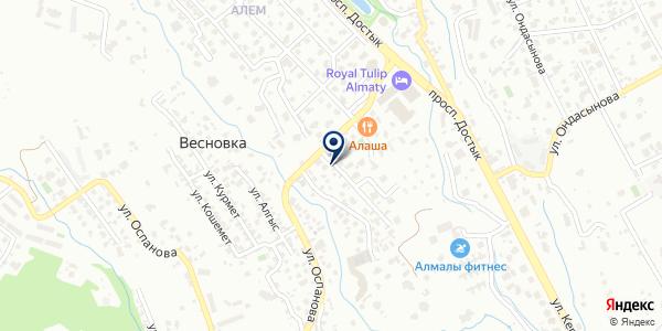 Rovabo на карте Алматы